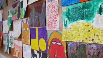 children's art storage