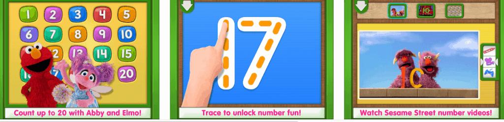 Elmo Loves 123s app for kids