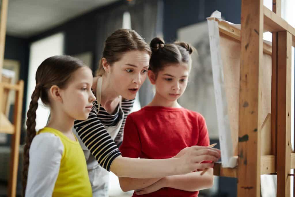 art painting class kids London