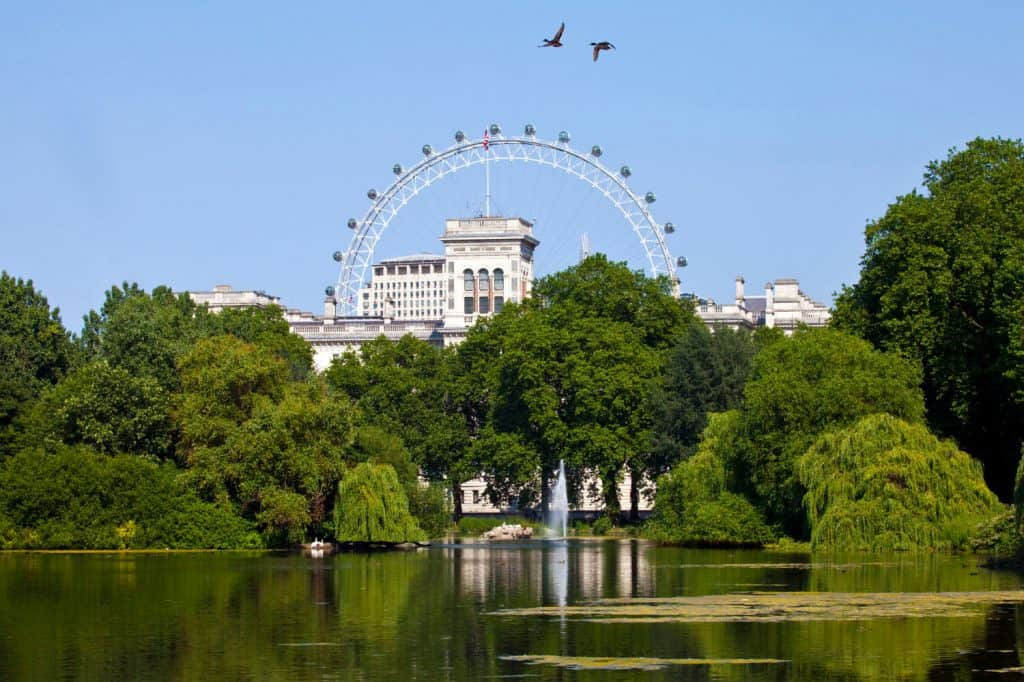 London Eye and St James' Park