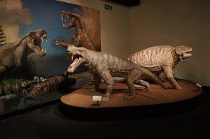 Inostrancevia on left and Scutosaurus on right_Permian Monsters_Courtesy Gondwana Studios