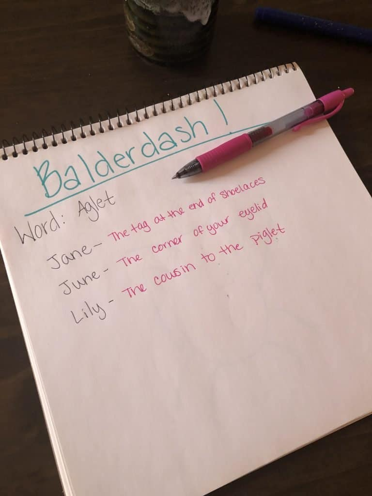 how to play balderdash on paper