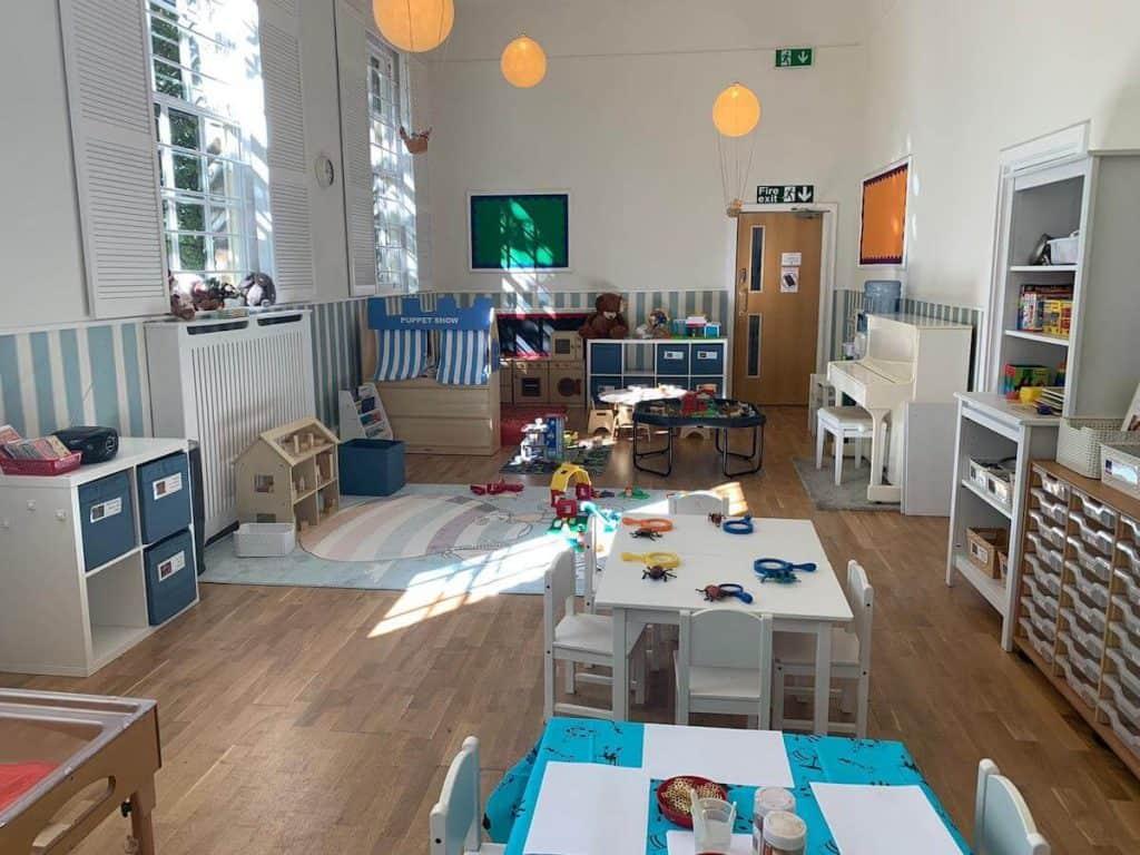 a classroom inside Phileas Fox Nursery School