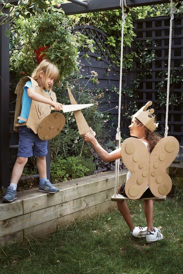 how to make cardboard costumes