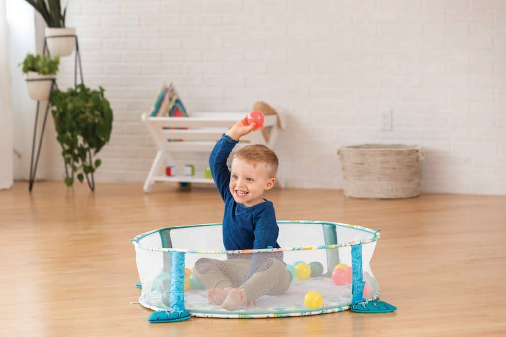 3-in-1 Jumbo Activity Gym Ball Pit by Infantino older toddler