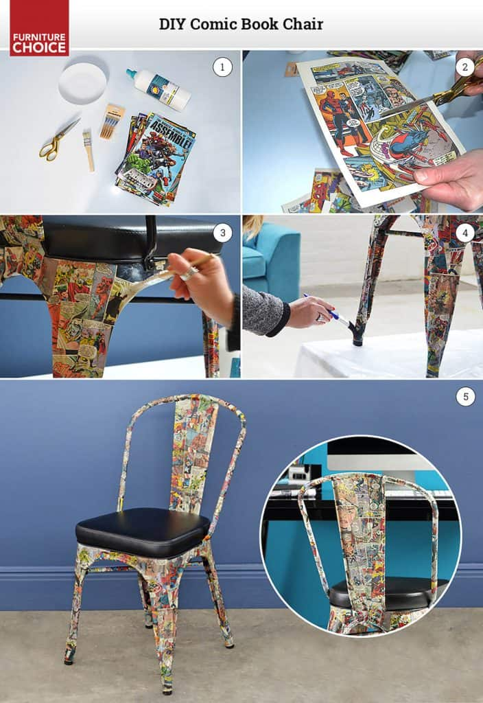 how to make a Comic book chair