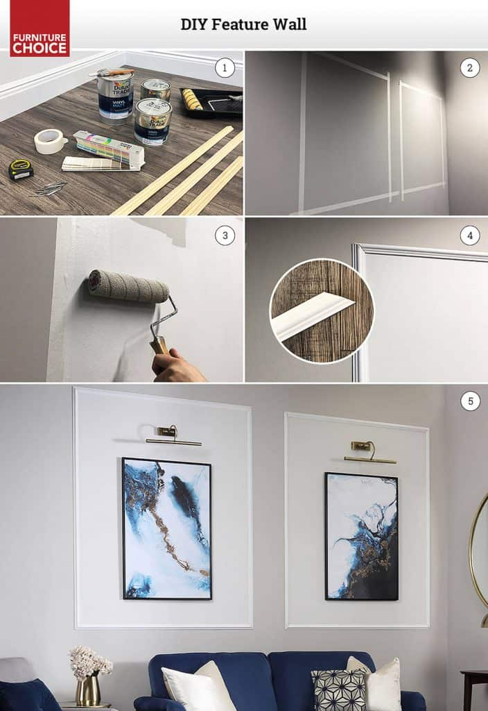 how to make an Art Deco Feature Wall