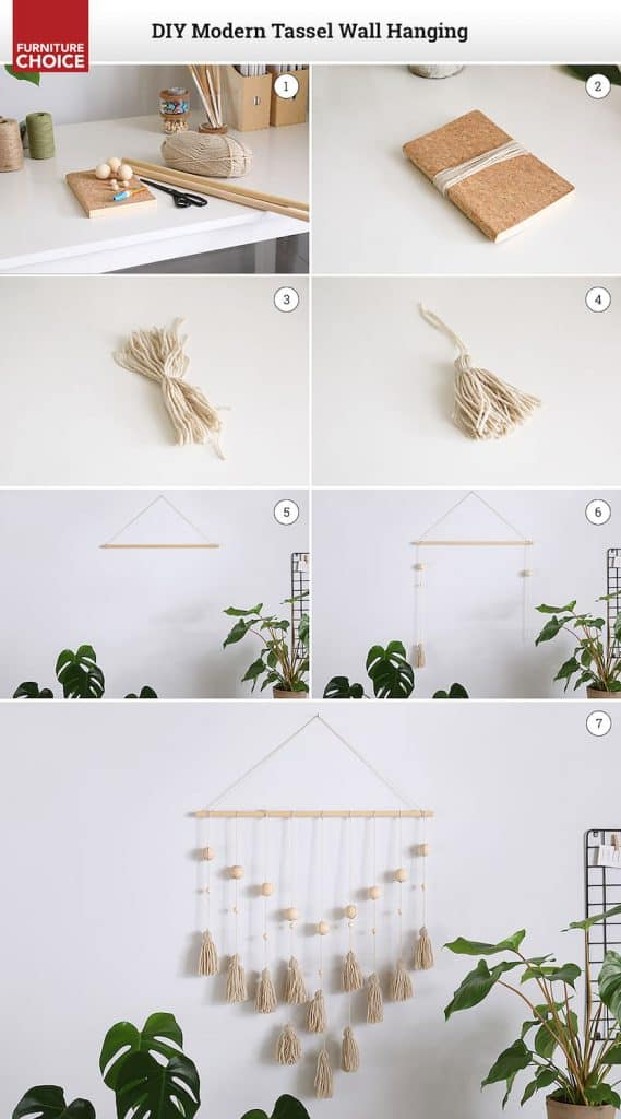 how to make a Tassel wall hanging