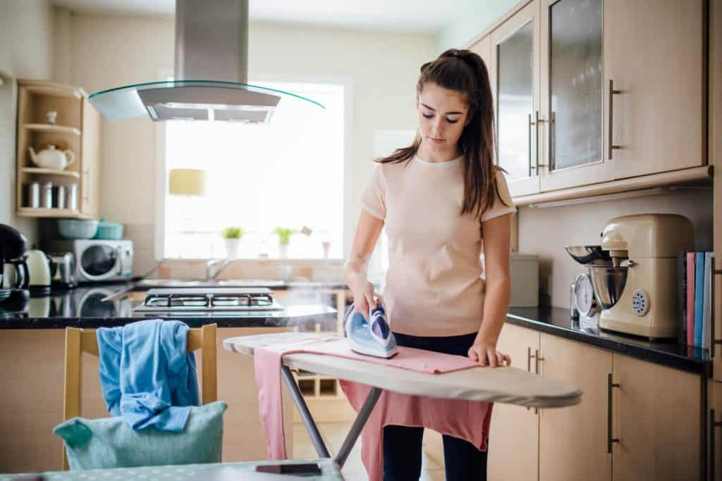 Teens can help with ironing