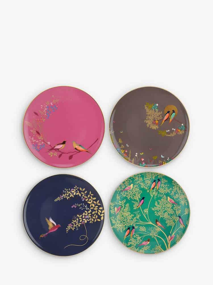 Sara Miller Chelsea Collection Birds Cake Plates