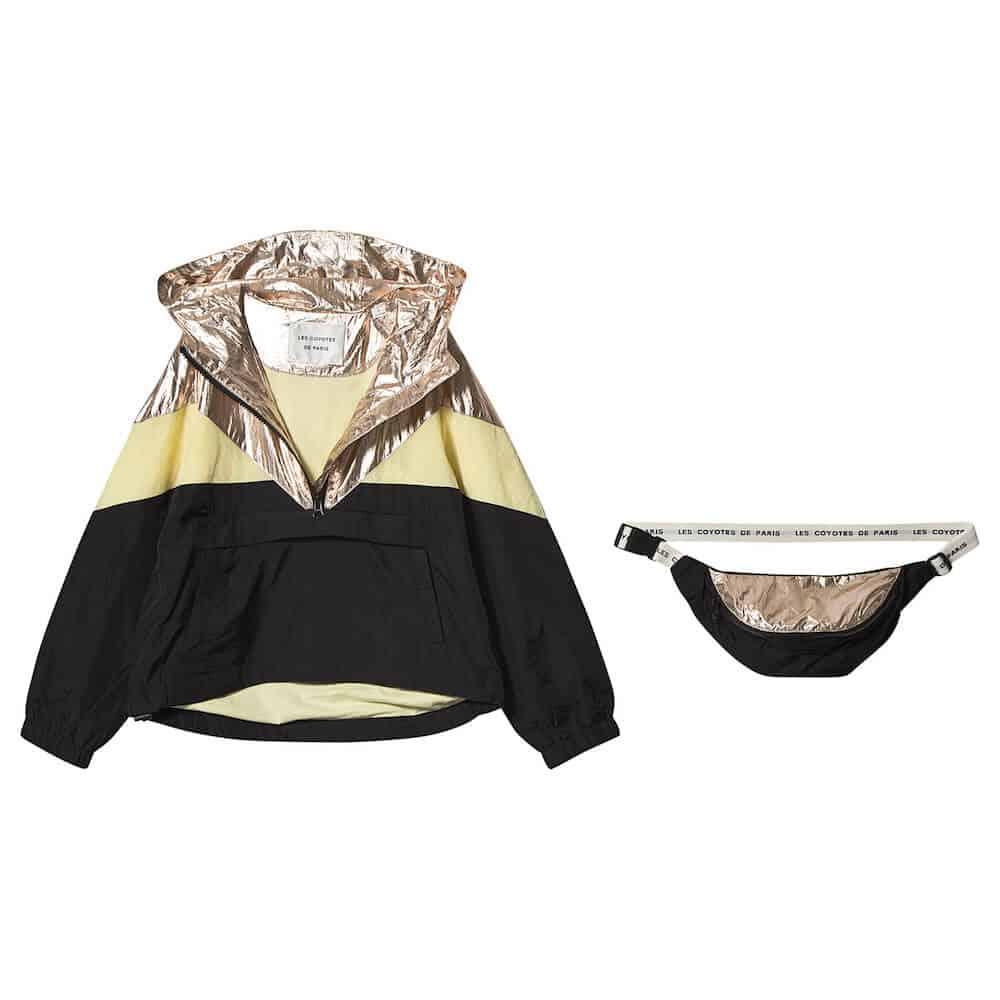 Les Coyotes De Paris Black Colour Block Joanne Windbreaker Jacket