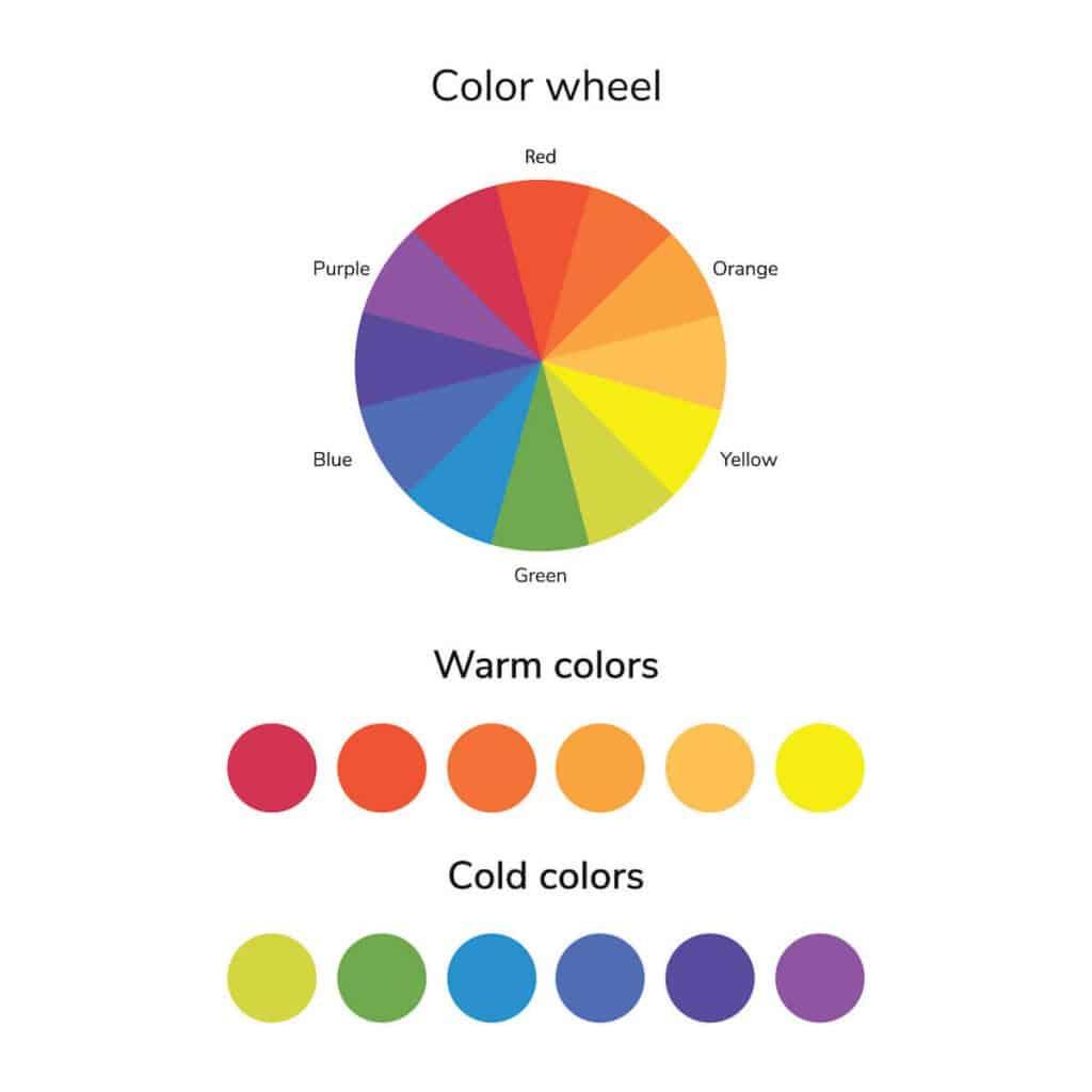 use a colour wheel to brighten a teen girl bedroom